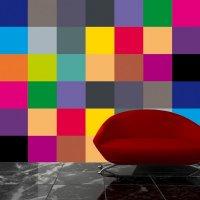 Salon, fototapeta abstrakcyjna